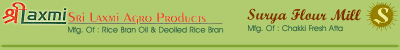Manufactures of rice bran, polished rice, wheat bran, rice oil, wheat flour